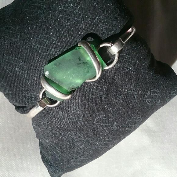 Jewelry - Hawaiian Green Beach Sea Glass Wrapped Bracelet